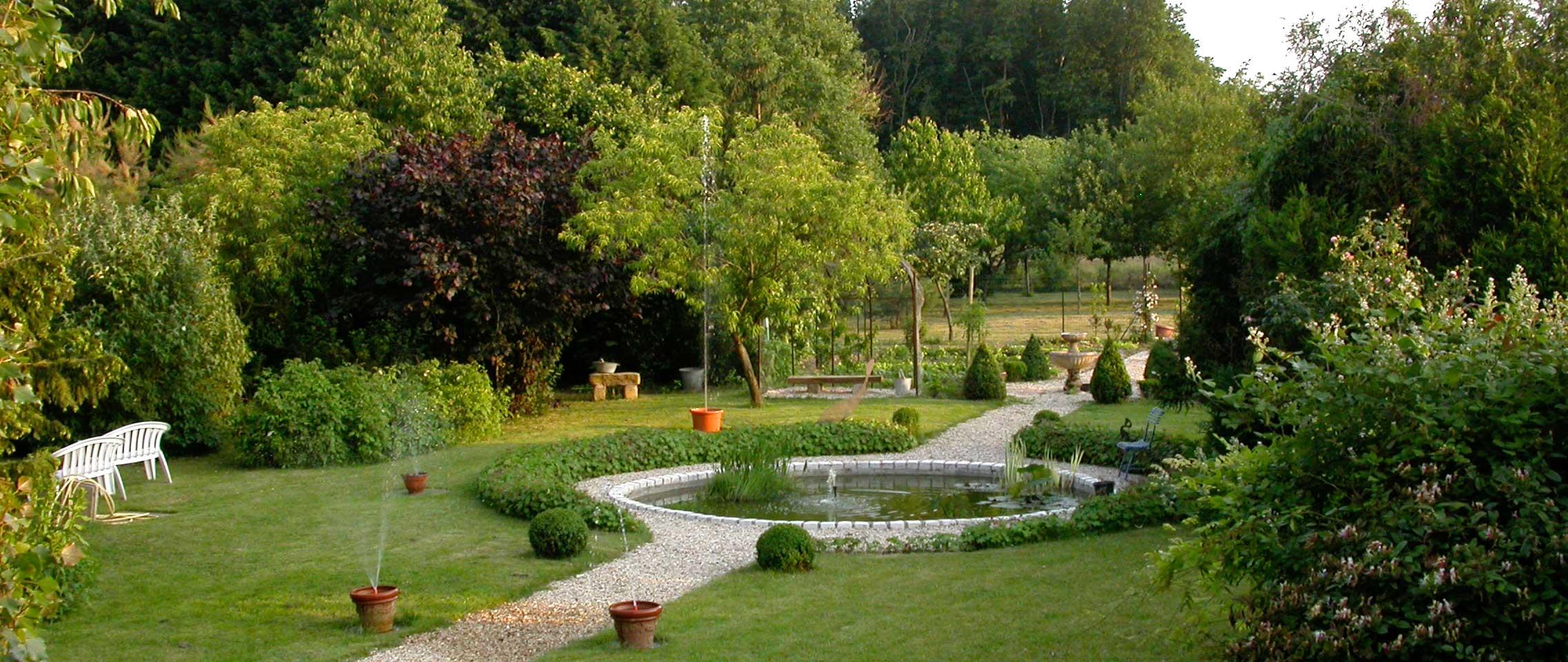 Le bassin du jardin